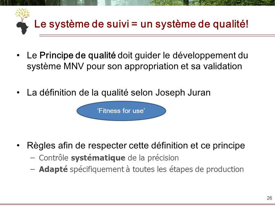 Le système de suivi = un système de qualité!