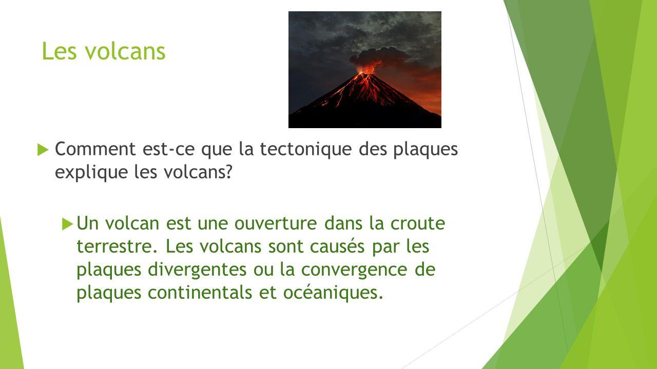 Les volcans Comment est-ce que la tectonique des plaques explique les volcans