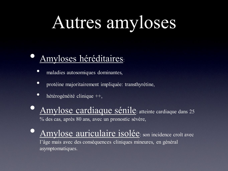 Autres amyloses Amyloses héréditaires: