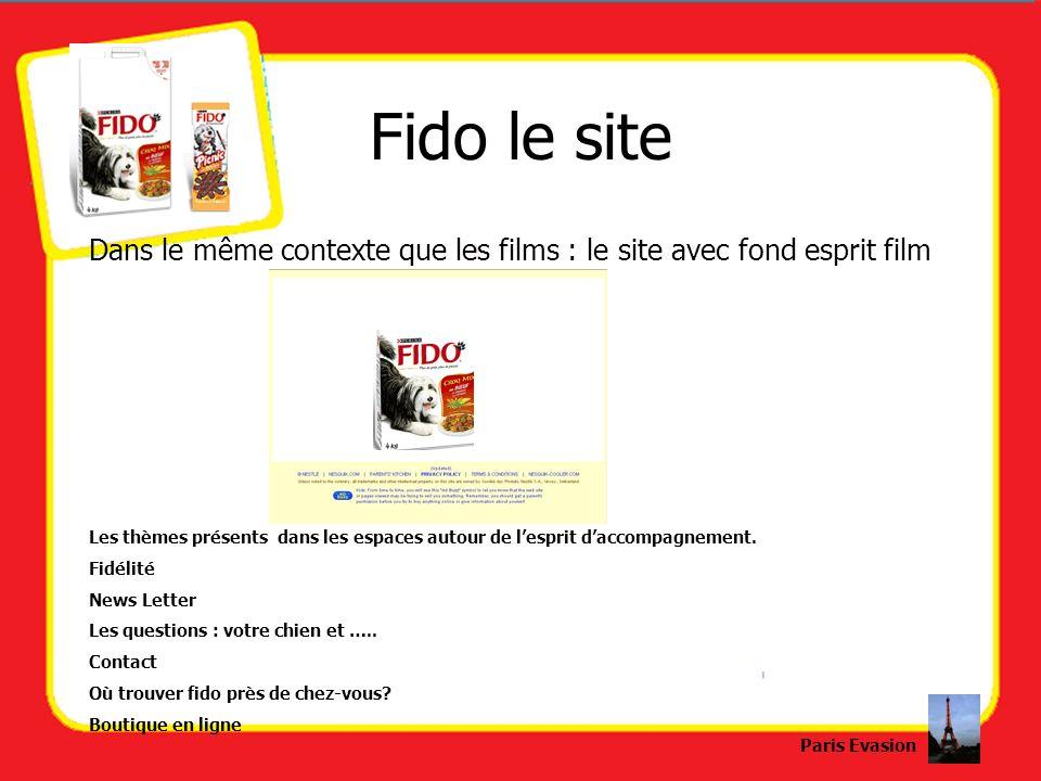 Fido le siteDans le même contexte que les films : le site avec fond esprit film.