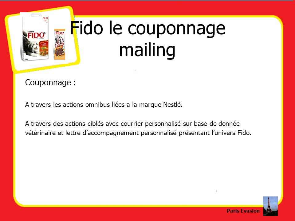 Fido le couponnage mailing