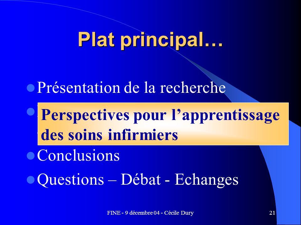FINE - 9 décembre 04 - Cécile Dury