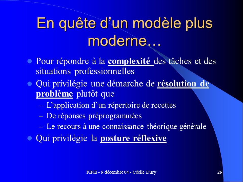 En quête d'un modèle plus moderne…