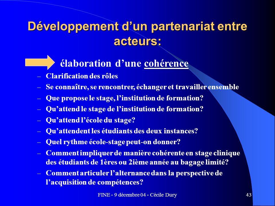 Développement d'un partenariat entre acteurs: