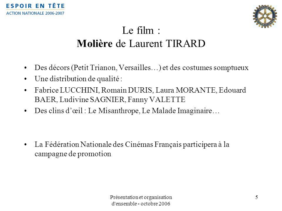 Le film : Molière de Laurent TIRARD