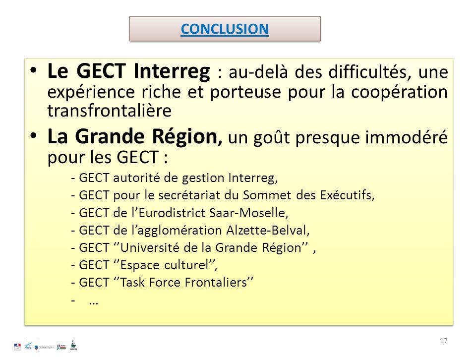 La Grande Région, un goût presque immodéré pour les GECT :