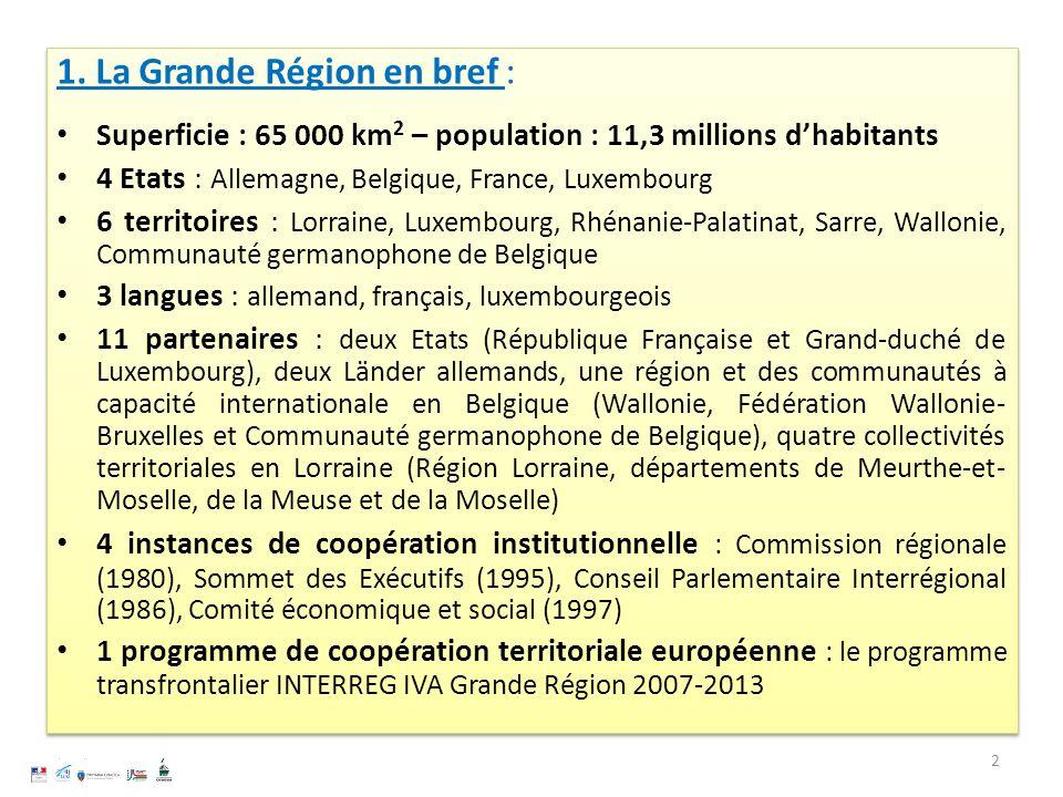 1. La Grande Région en bref :