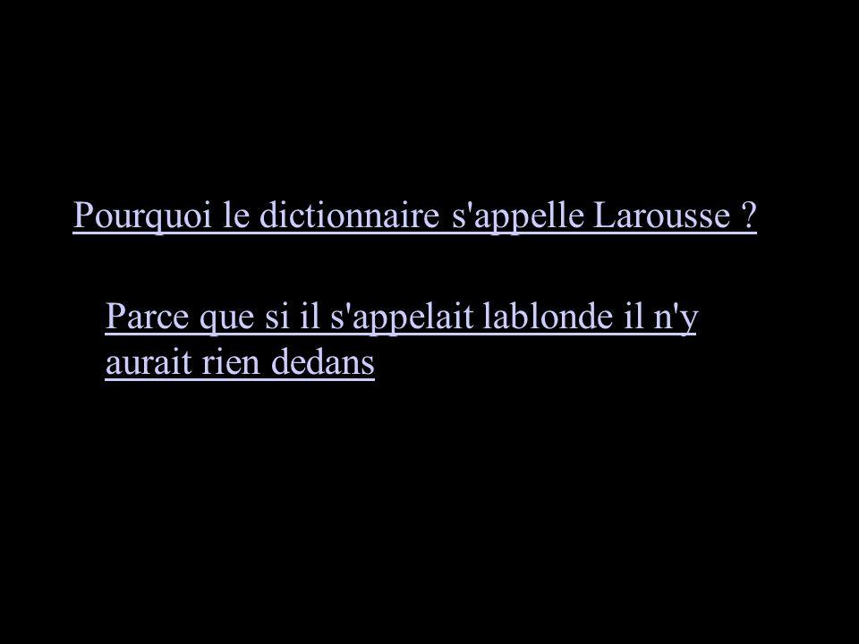 Pourquoi le dictionnaire s appelle Larousse