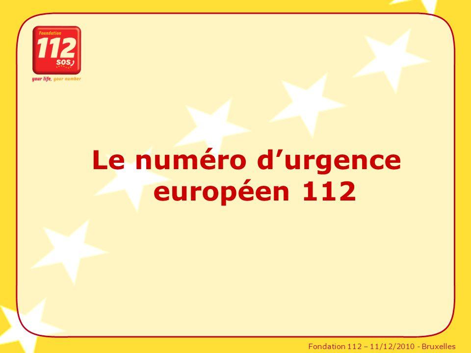 Le numéro d'urgence européen 112