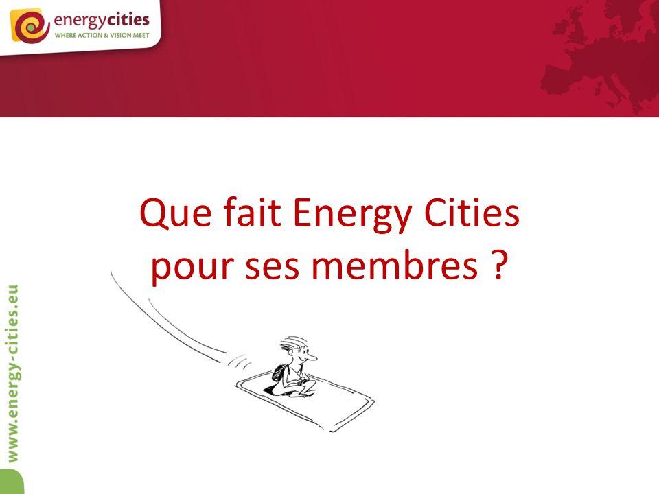 Que fait Energy Cities pour ses membres