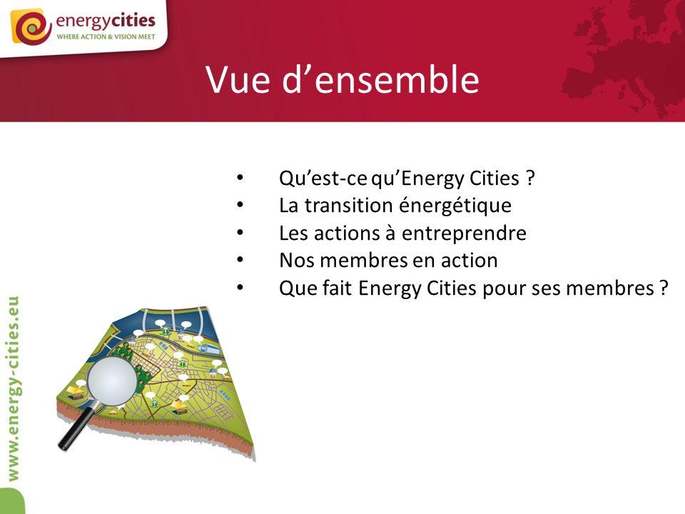 Vue d'ensemble Qu'est-ce qu'Energy Cities La transition énergétique