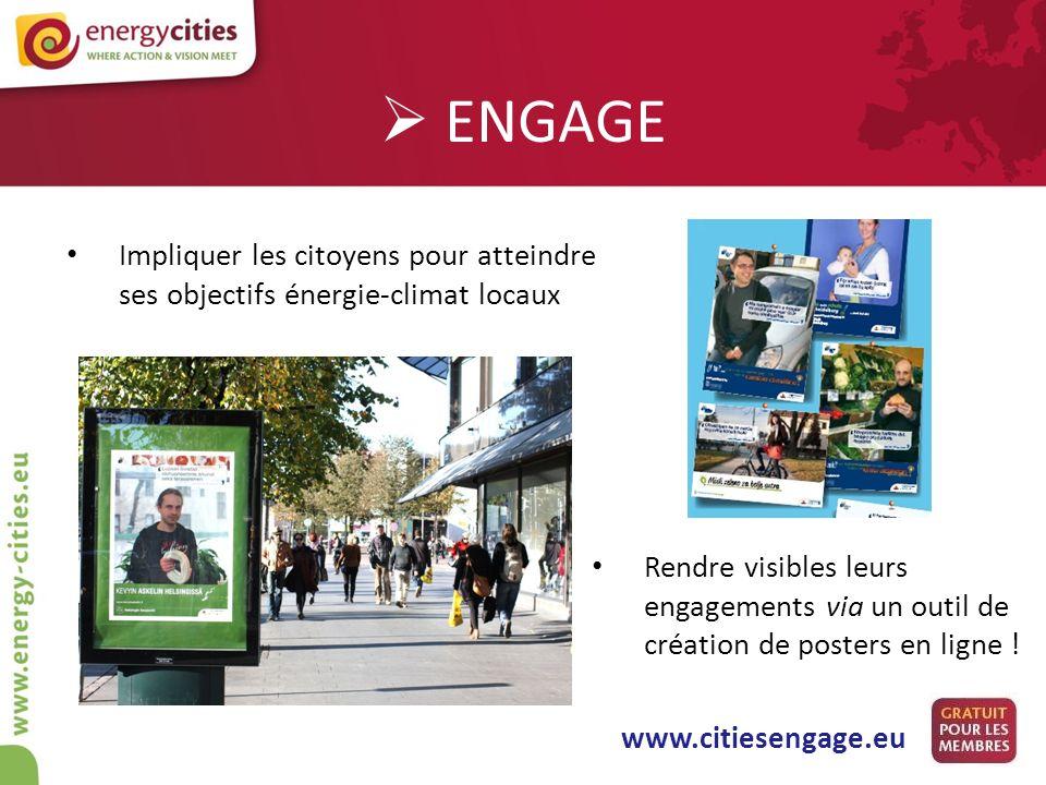 ENGAGE Impliquer les citoyens pour atteindre ses objectifs énergie-climat locaux.