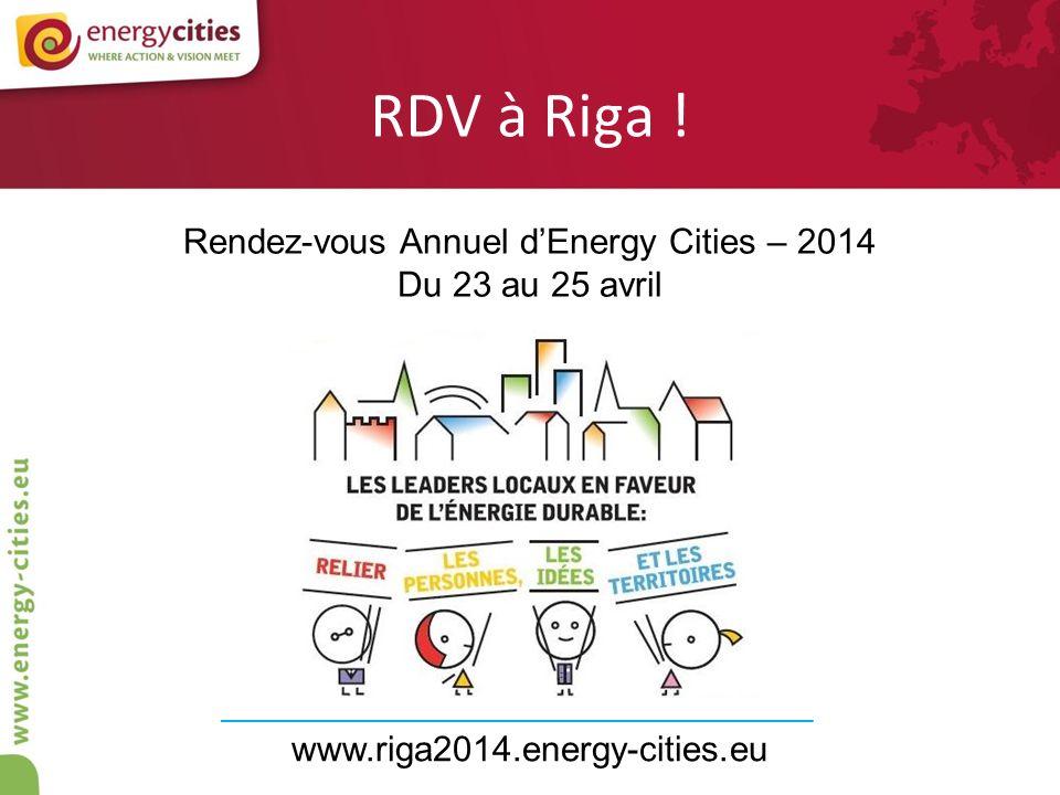 Rendez-vous Annuel d'Energy Cities – 2014