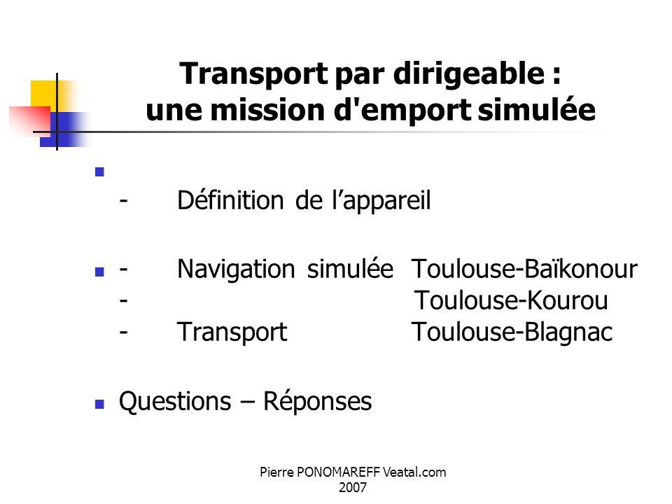 Transport par dirigeable : une mission d emport simulée