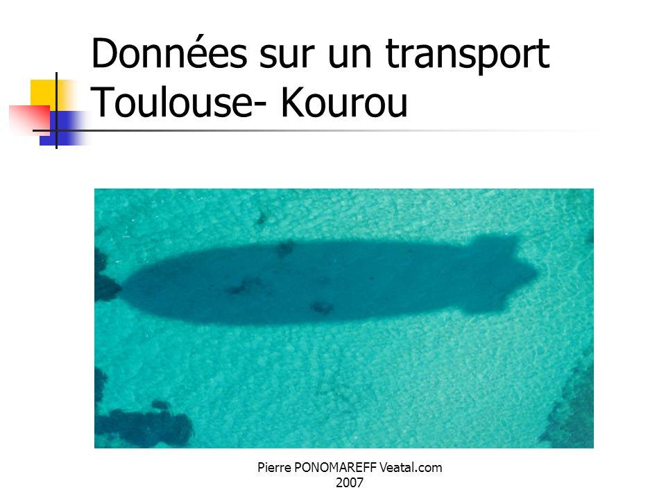 Données sur un transport Toulouse- Kourou