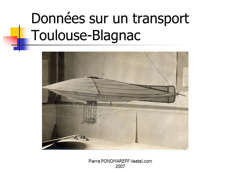 Données sur un transport Toulouse-Blagnac