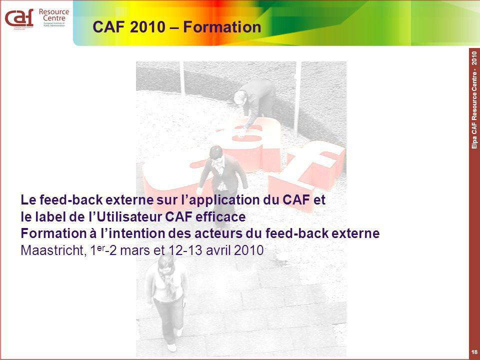 CAF 2010 – Formation Eipa CAF Resource Centre - 2010.