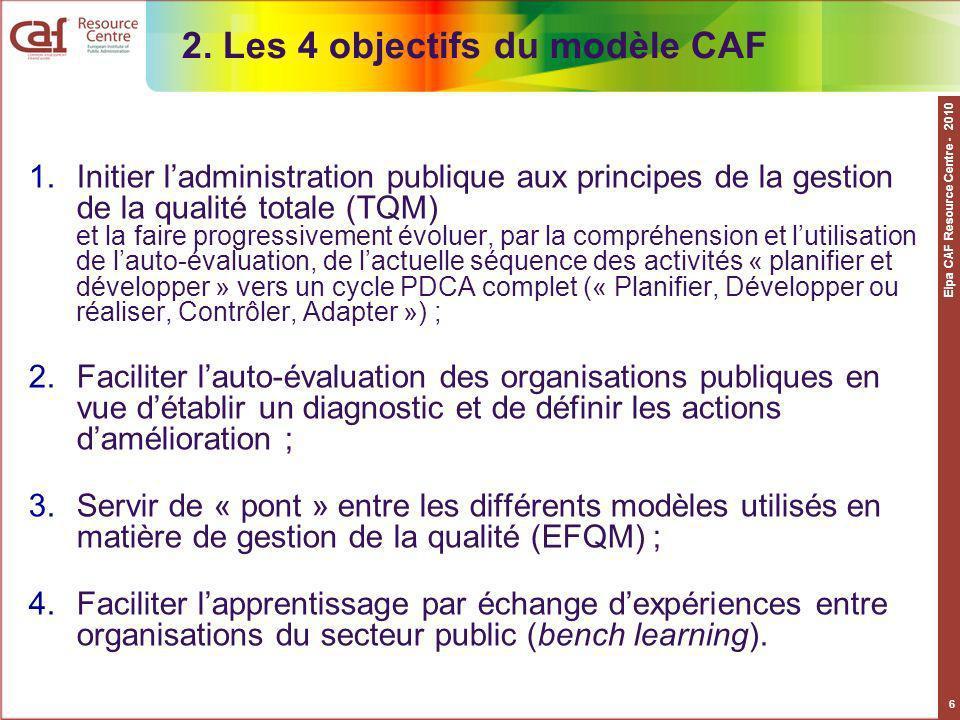 2. Les 4 objectifs du modèle CAF