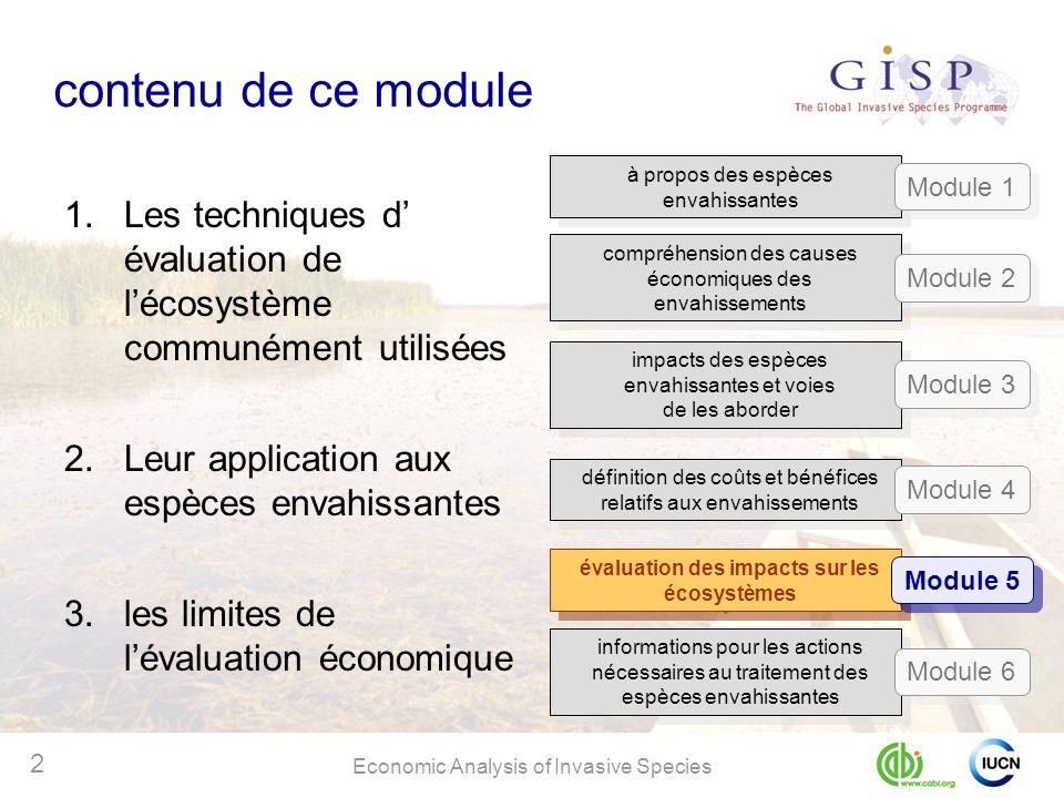 évaluation des impacts sur les écosystèmes