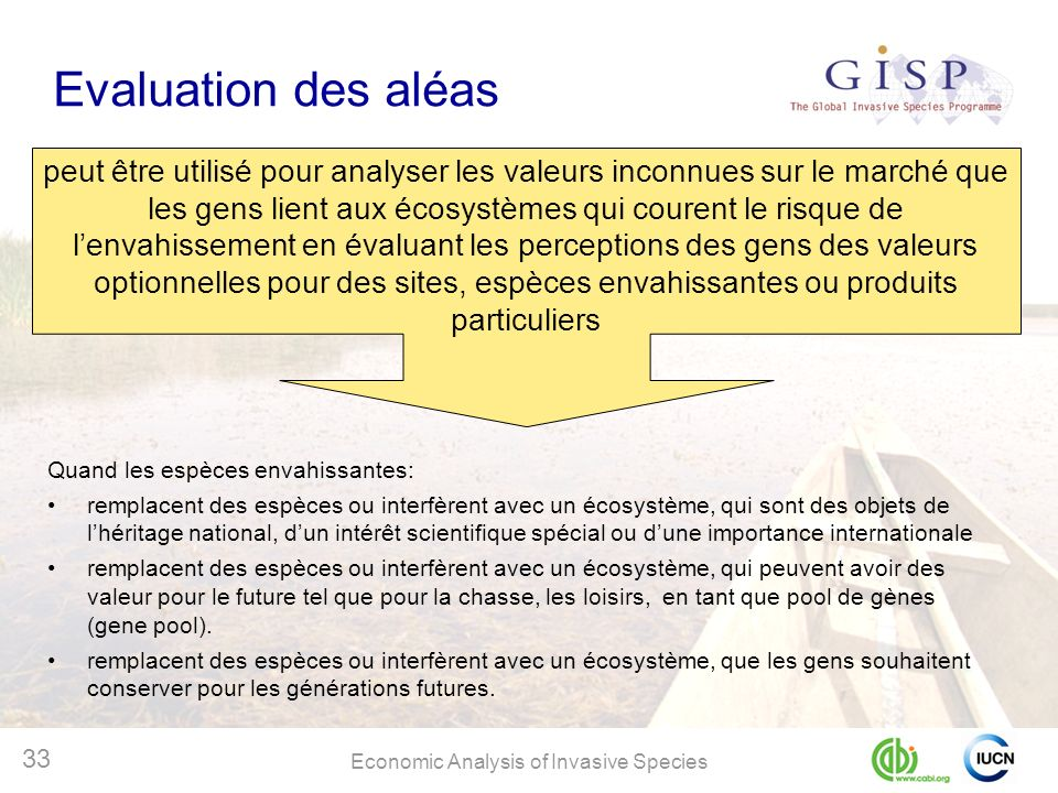 Evaluation des aléas