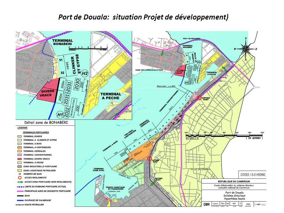 Port de Douala: situation Projet de développement)
