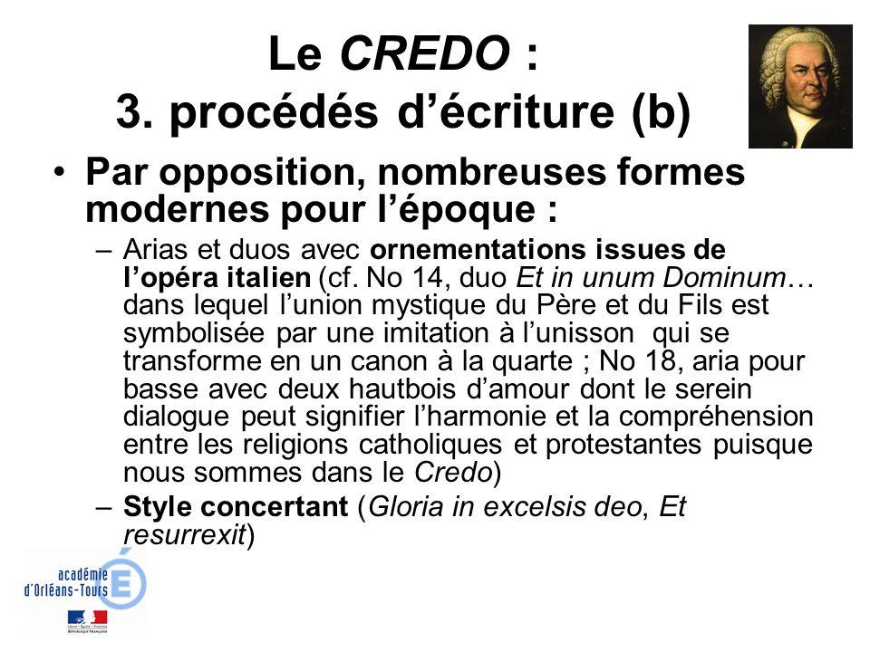 Le CREDO : 3. procédés d'écriture (b)
