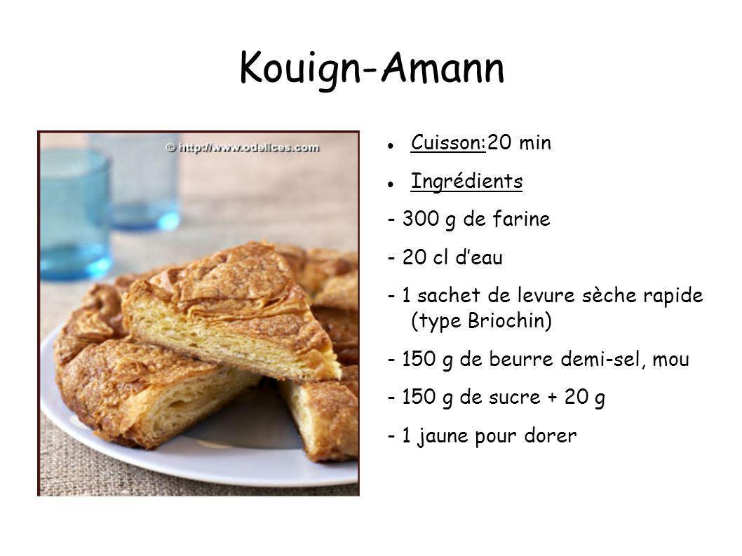 Kouign-Amann Cuisson:20 min Ingrédients - 300 g de farine