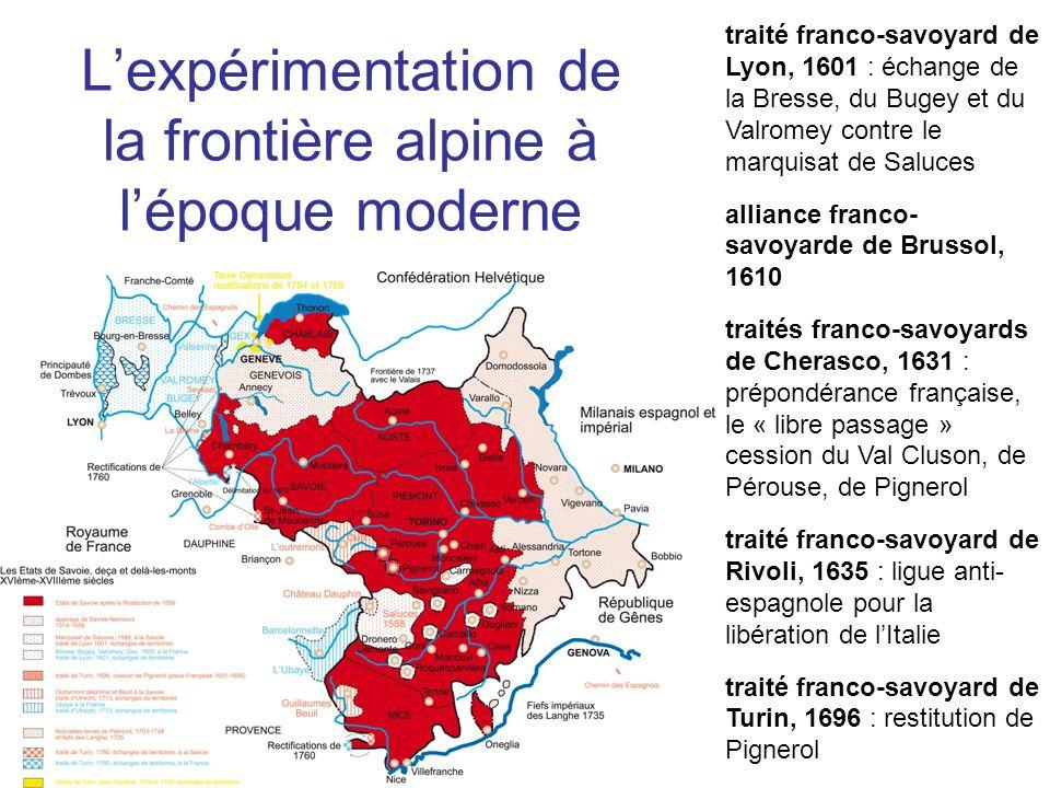 L'expérimentation de la frontière alpine à l'époque moderne