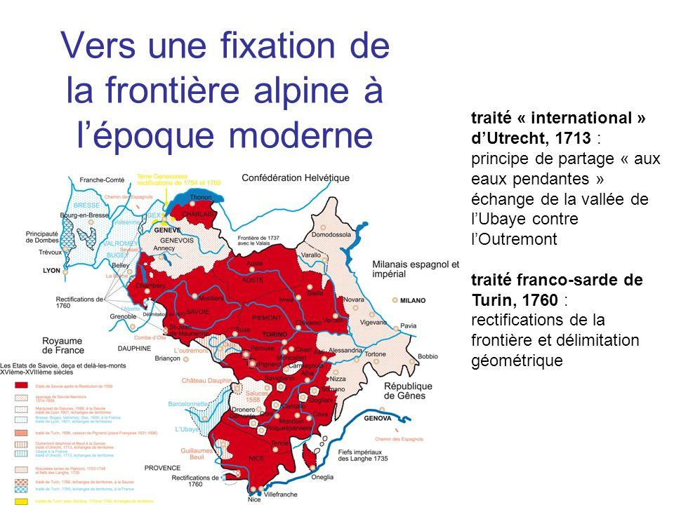 Vers une fixation de la frontière alpine à l'époque moderne