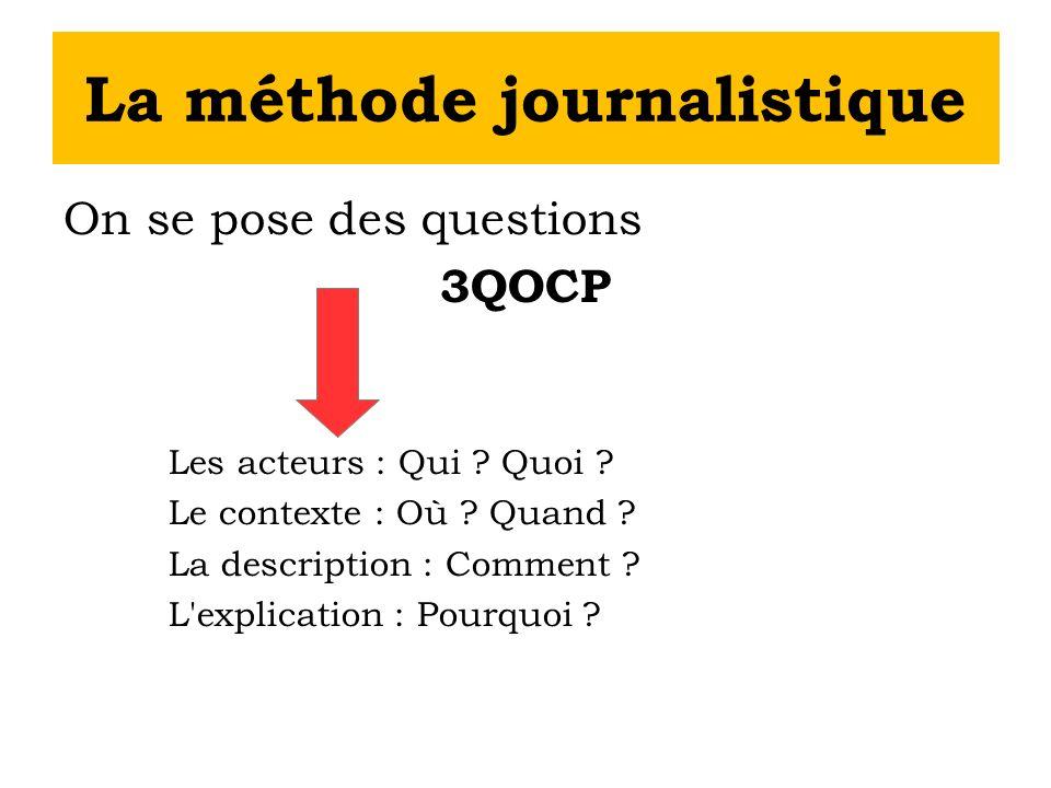 La méthode journalistique