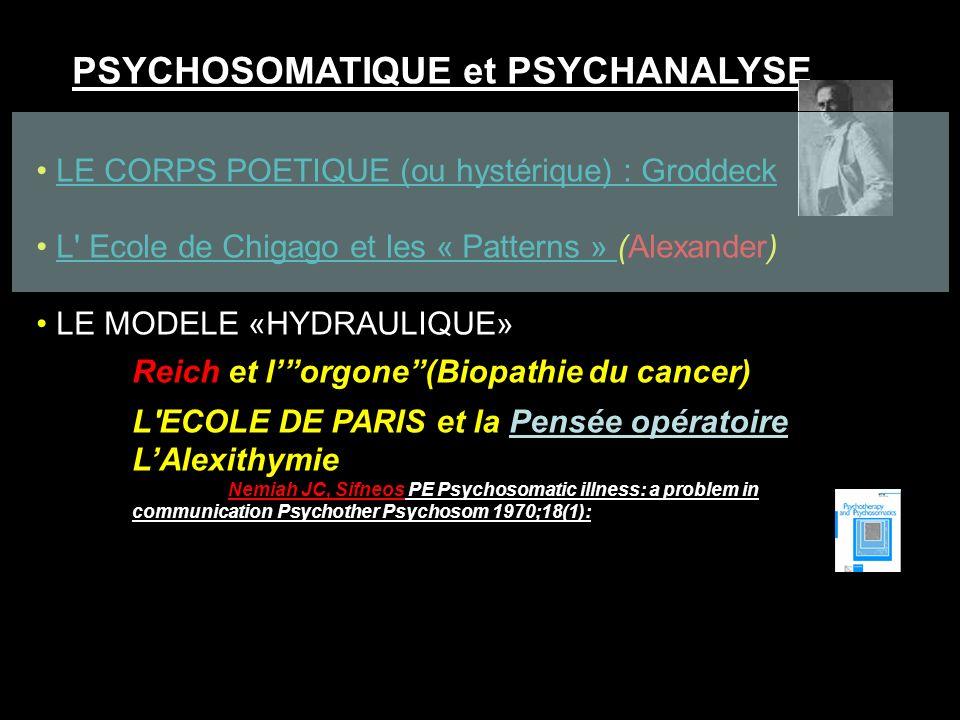 PSYCHOSOMATIQUE et PSYCHANALYSE