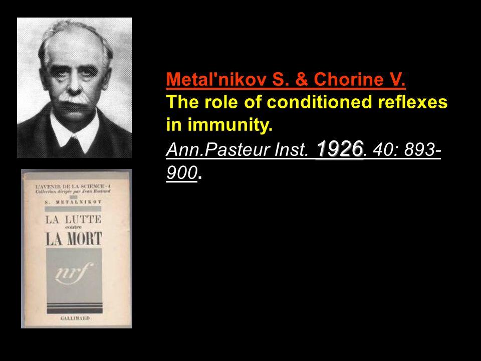 Metal nikov S. & Chorine V.