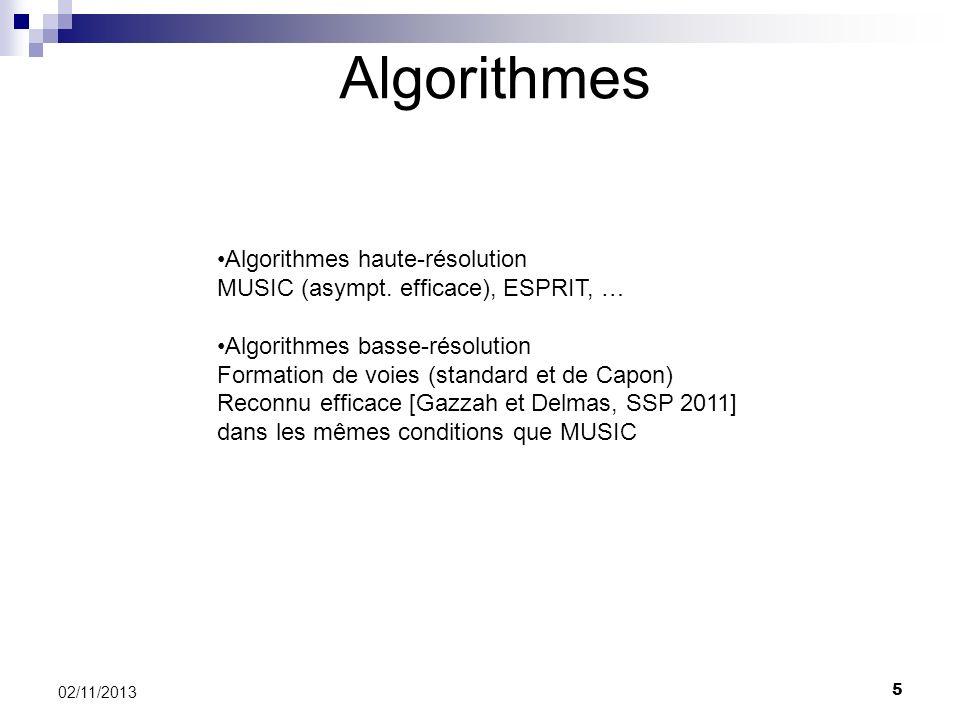 Algorithmes Algorithmes haute-résolution
