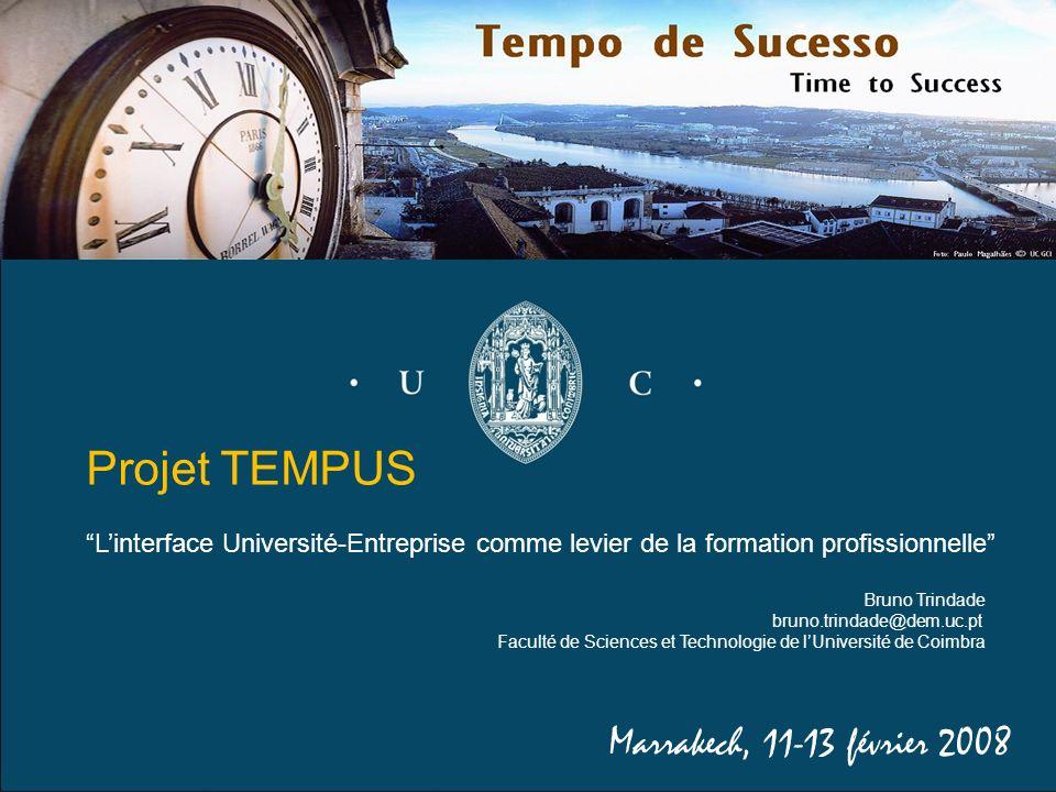 Projet TEMPUS Marrakech, 11-13 février 2008
