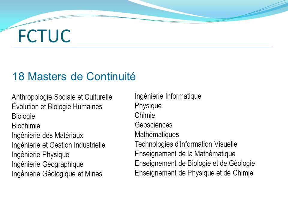 FCTUC 18 Masters de Continuité Ingénierie Informatique