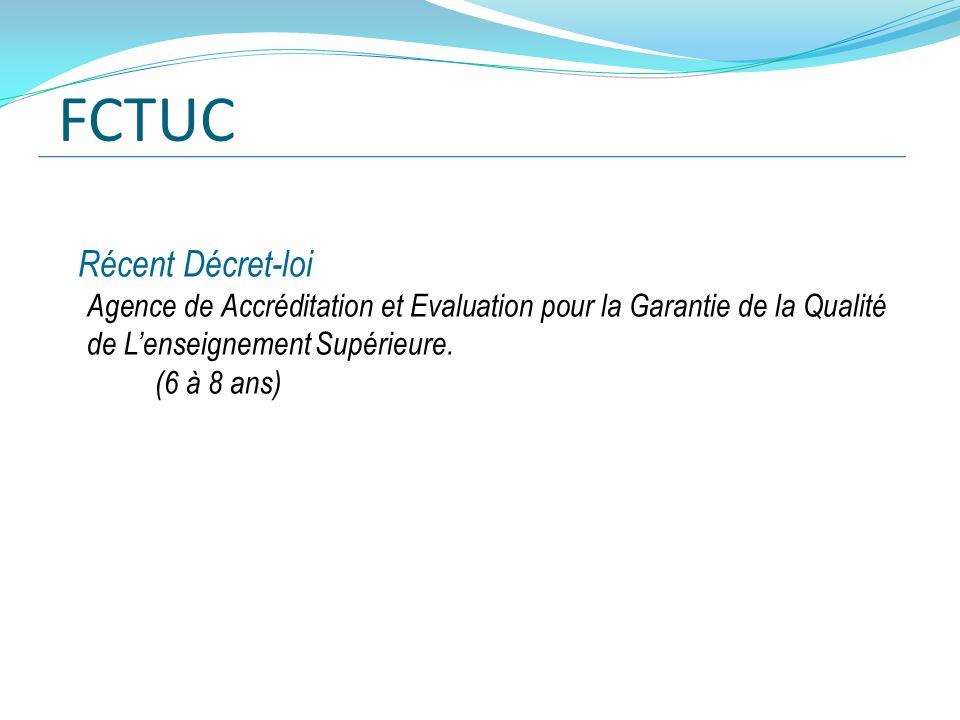 FCTUC Récent Décret-loi