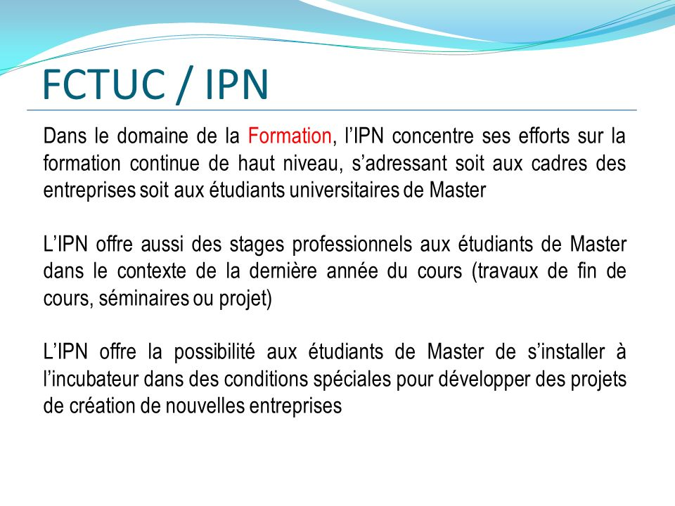 FCTUC / IPN