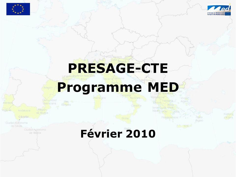 PRESAGE-CTE Programme MED