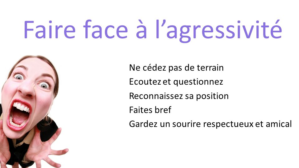 Faire face à l'agressivité
