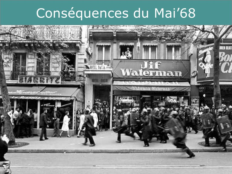 Conséquences du Mai'68 Running Title 13