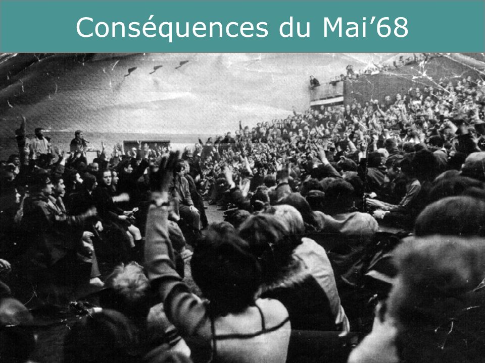 Conséquences du Mai'68 Running Title 14