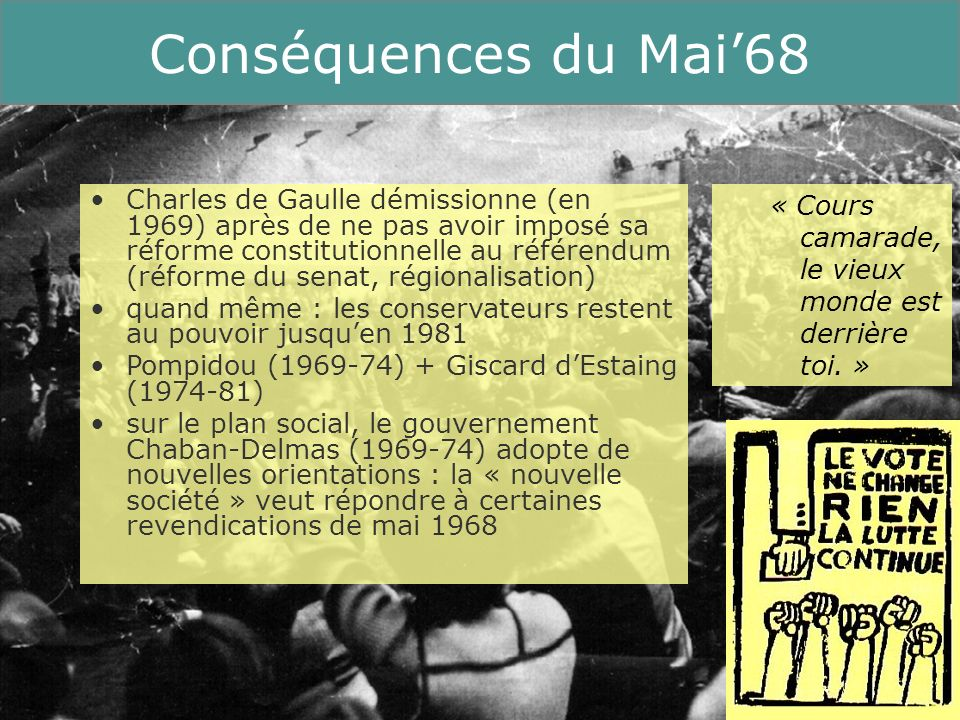 Conséquences du Mai'68Running Title.