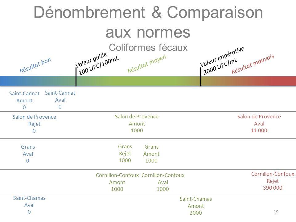 Dénombrement & Comparaison aux normes Coliformes fécaux
