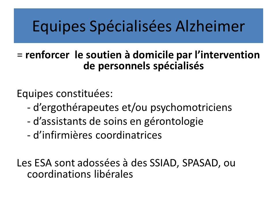 Equipes Spécialisées Alzheimer