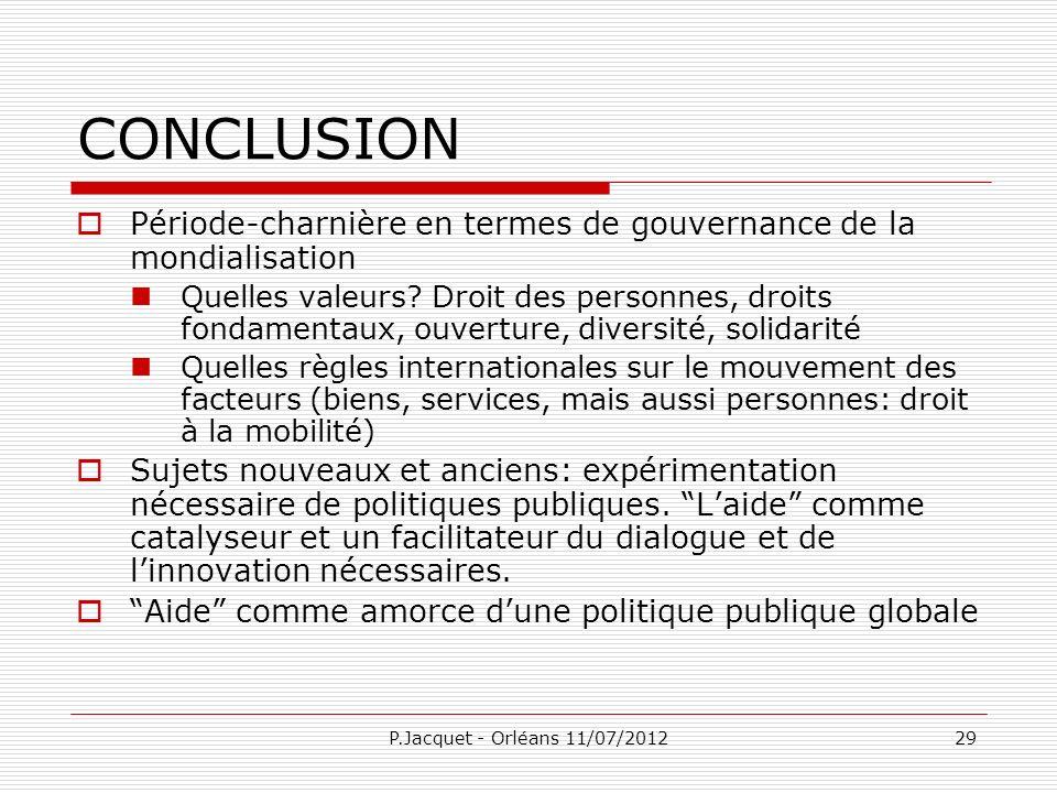 CONCLUSIONPériode-charnière en termes de gouvernance de la mondialisation.