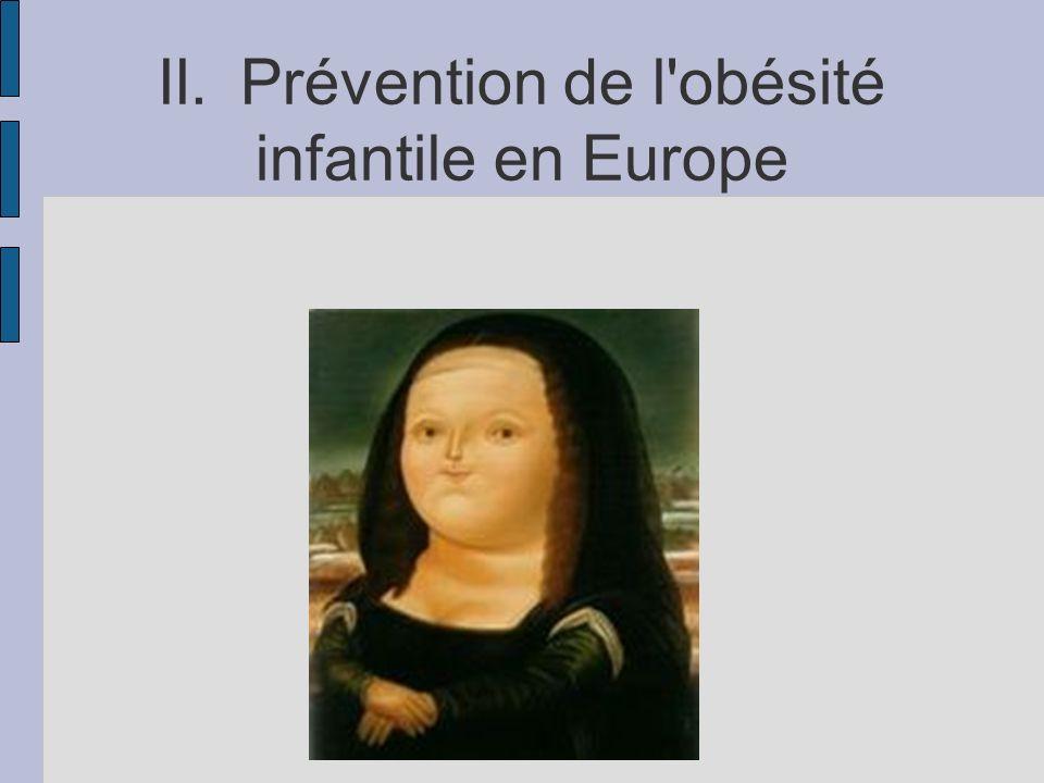 II. Prévention de l obésité infantile en Europe