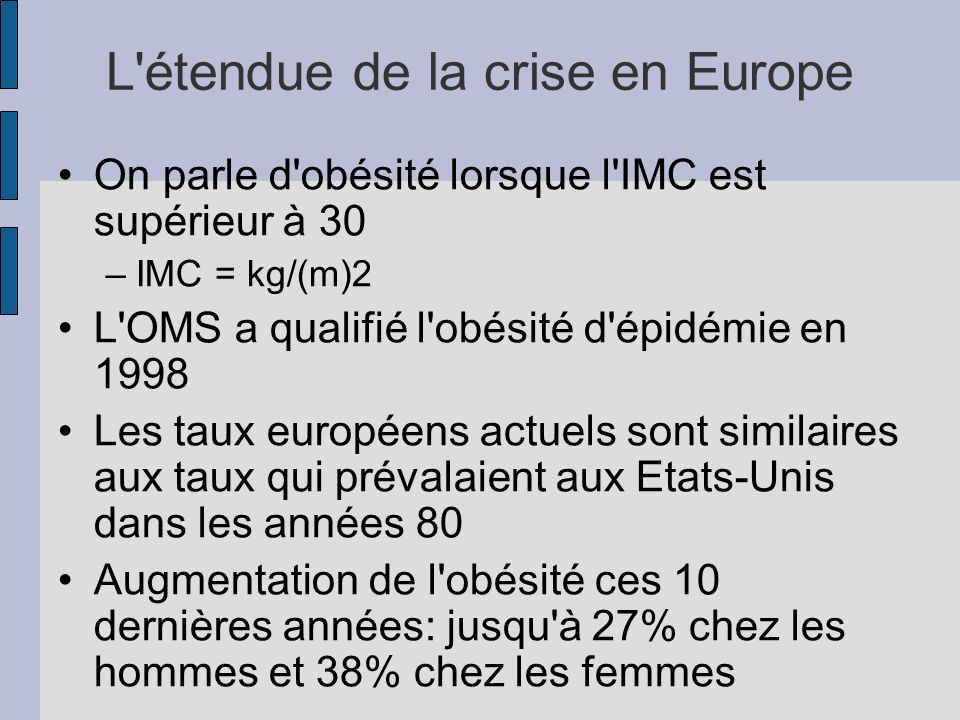 L étendue de la crise en Europe