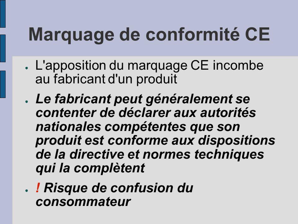 Marquage de conformité CE