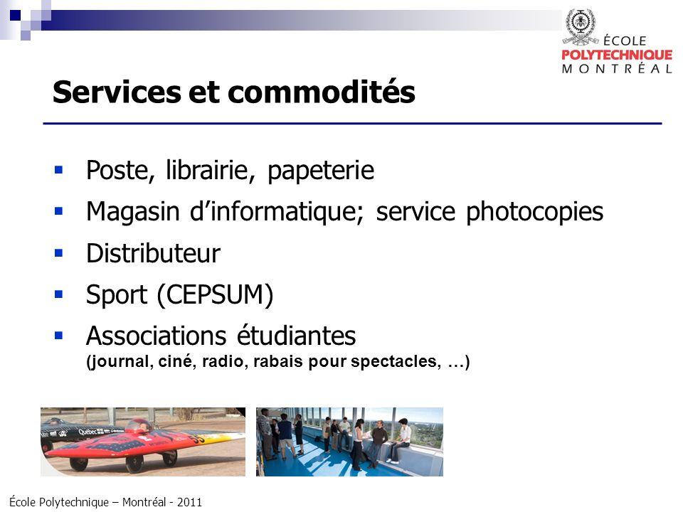 Services et commodités