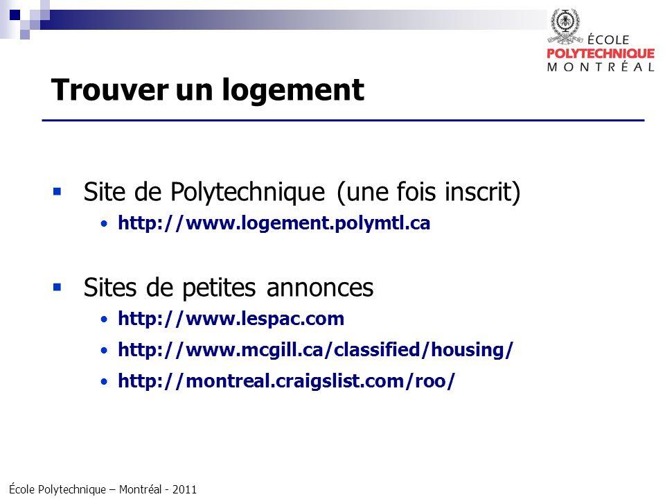 Trouver un logement Site de Polytechnique (une fois inscrit)
